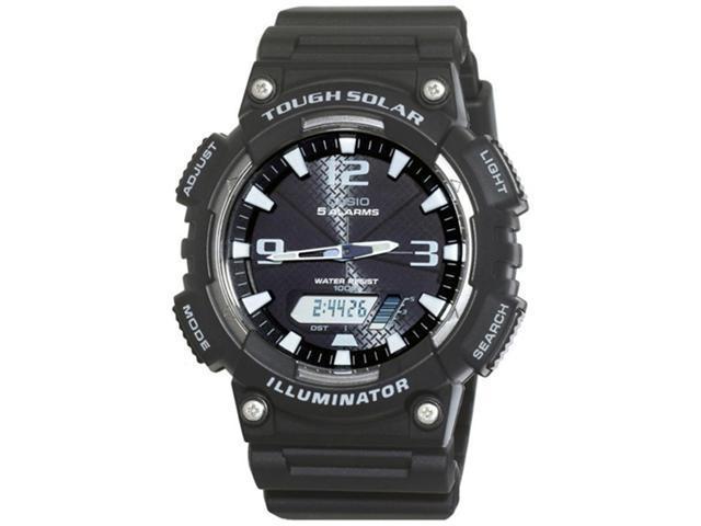 Casio Men's Sport AQS810W-1AV Black Resin Quartz Watch with Black Dial