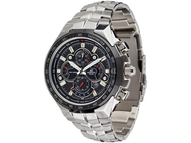 Casio Men's Edifice EF554SP-1AV Silver Stainless-Steel Quartz Watch with Black Dial