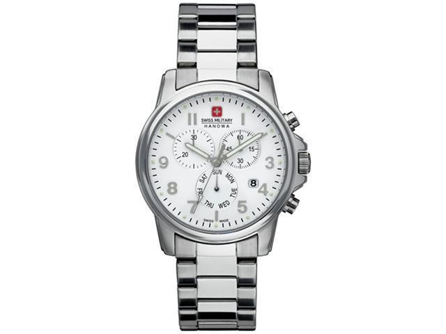 Swiss Military Hanowa Men's Swiss Soldier 06-5142-04-001 Silver Stainless-Steel Swiss Quartz Watch with White Dial