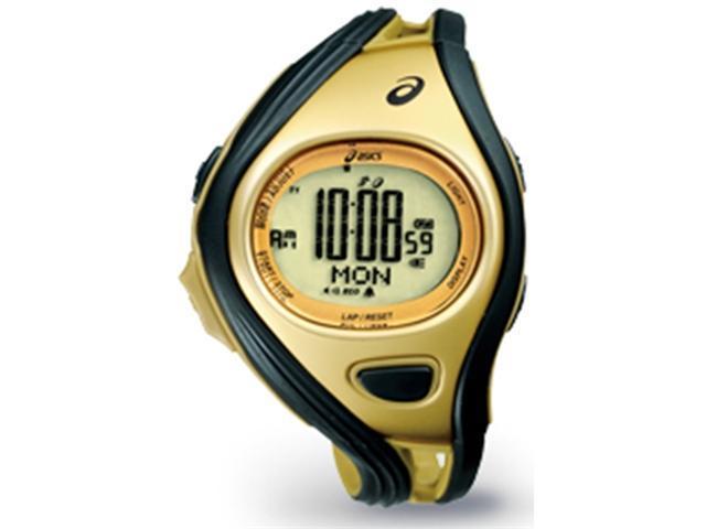 Asics CQAR0309 Unisex Challenge Gold Polyurethane Quartz Watch with Silver Dial