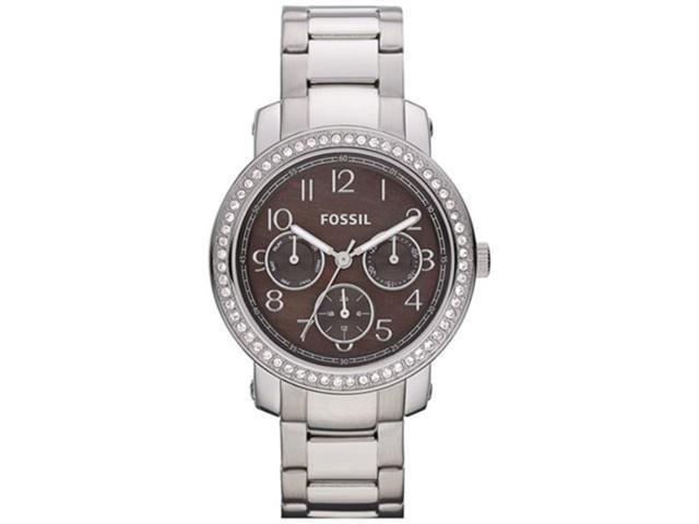 Fossil Women's Imogene ES3086 Silver Stainless-Steel Quartz Watch with Brown Dial