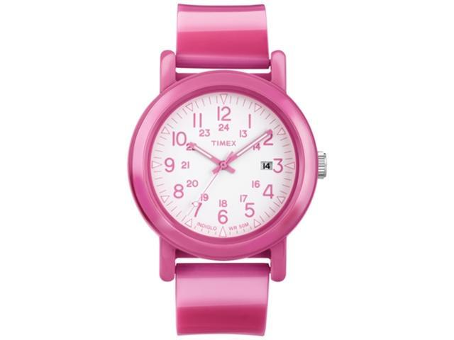 Timex Women's Camper T2N877 Pink Plastic Quartz Watch with White Dial