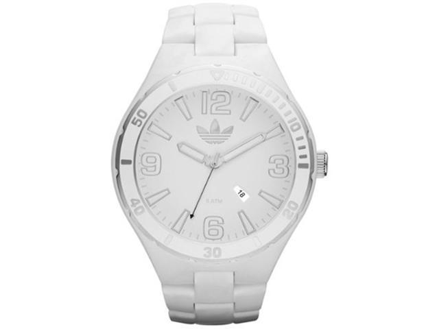 Adidas Unisex Originals ADH2688 White Plastic Quartz Watch with White Dial