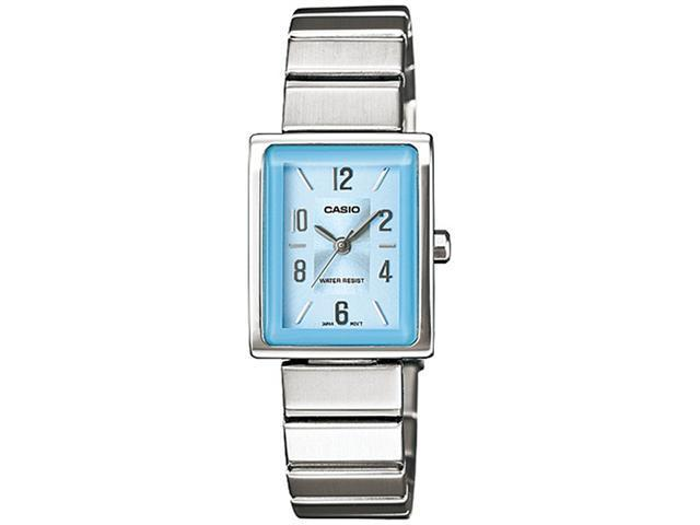 Casio Women's LTP1355D-2A Silver Stainless-Steel Quartz Watch with Blue Dial