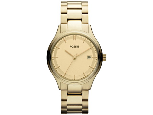 Fossil Women's Archival ES3161 Gold Stainless-Steel Analog Quartz Watch with Gold Dial