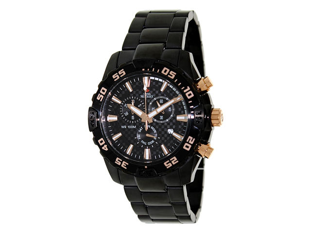 Swiss Precimax Formula-7 Pro SP12152 Men's Black Dial Stainless Steel Chronograph Watch