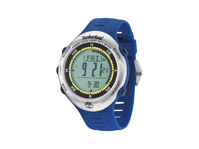 Timberland Men's Washington Summit 13386JPBUS/01 Blue Plastic Automatic Watch with Digital Dial