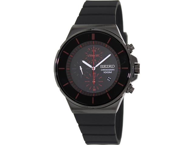 Seiko Chronograph Black Dial Mens Watch SNDD61