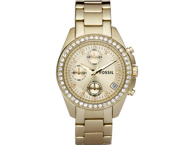 Fossil Decker Chronograph Champagne Dial Gold-tone Ladies Watch ES2683