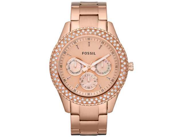 Fossil Women's Stella Rose Stainless Steel Multifuncion Watch