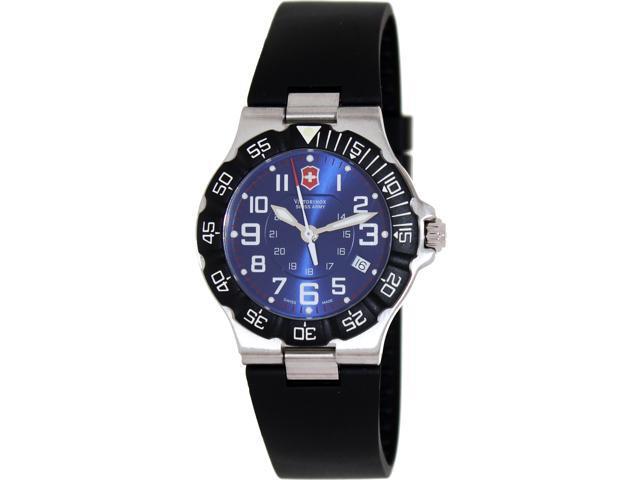 Victorinox Swiss Army Men's Summit 241410 Black Rubber Swiss Quartz Watch with Blue Dial