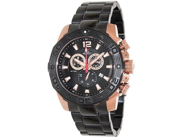 Swiss Precimax SP13269 Men's Legion Reserve Pro Black Stainless-Steel Swiss Chronograph Watch with Black Dial