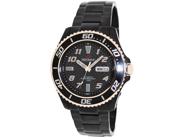 Swiss Precimax PX13223 Men's Aqua Classic Automatic Black Stainless-Steel Automatic Watch with Black Dial