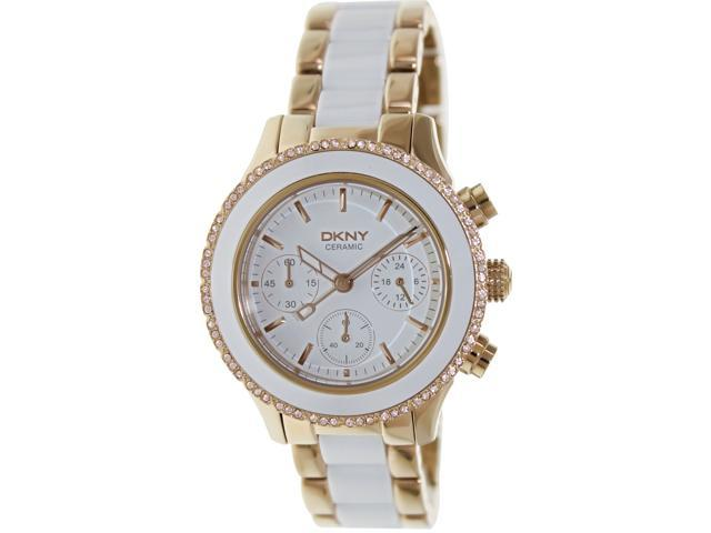 Dkny Women's NY8825 White Ceramic Quartz Watch with White Dial
