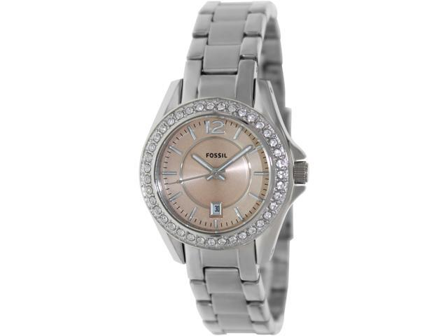 Fossil Women's Riley ES3378 Silver Stainless-Steel Quartz Watch with Beige Dial