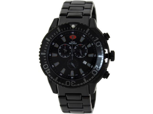 Swiss Precimax Pulse Pro SP13104 Men's Black Dial Stainless Steel Swiss Chronograph Watch