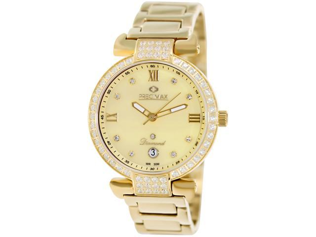 Precimax Women's Siren Diamond PX13334 Gold Stainless-Steel Quartz Watch with Mother-Of-Pearl Dial
