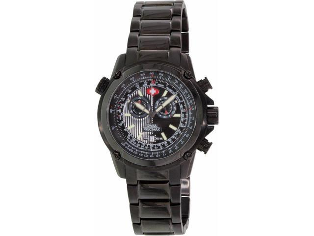 Swiss Precimax Squadron Pro SP13076 Men's Stainless Steel Chronograph Watch with Black Band and Dial