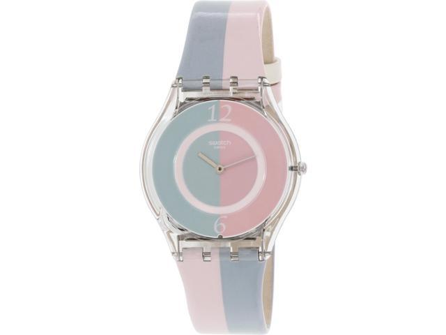Swatch Women's Skin SFK398 Multi Leather Swiss Quartz Watch