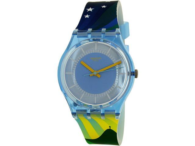 Swatch Men's Gent GS147 Blue Silicone Quartz Watch