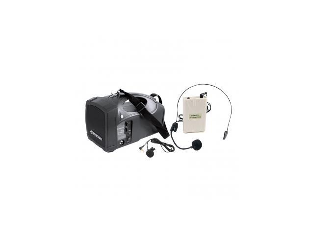 Pyle Portable PA Wireless Speaker System Amplifier With Belt Pack Lavalier/ Headsets w/Two Microphone Inputs