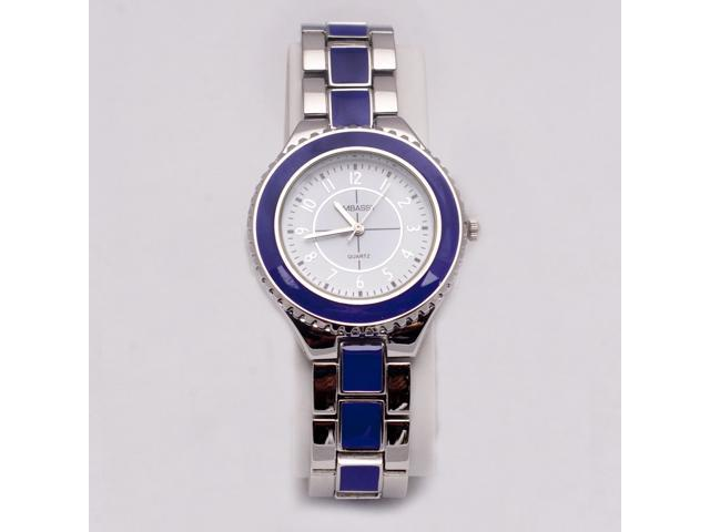 Silver and Purple Circular Analog Women's Watch