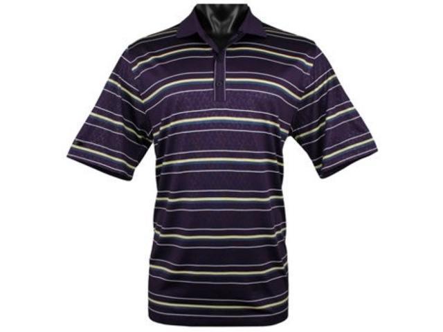 Greg Norman Santa Rosa Embossed Golf Shirts Color: Plum Size: 2XL