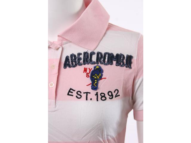 Abercrombie & Fitch Est 1892 Light Pink and White Strips Boys Polo Shirt
