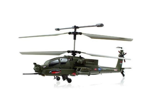 """Syma S113G Big Apache Military Coaxial 3.5ch RC 12"""" Helicopter w/ Gyro"""