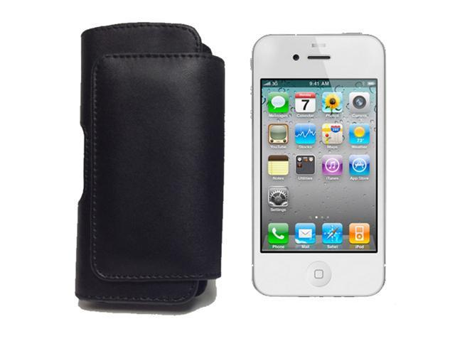 Black Leather Pouch Case Cover Holster with Belt Clip for Apple iPhone 5, LG Voyager, T-Mobile G1, HTC Dream, Treo 800W, Treo 850 Cellular Phone Accessory