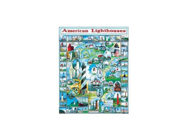 American Lighthouses 1000 Piece Puzzle by White Mountain Puzzles