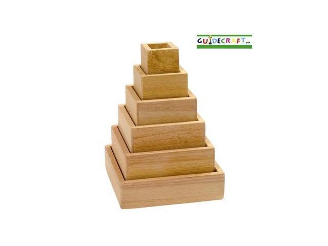 Guidecraft Stacking Rainbow Pyramid, Multi - G5066