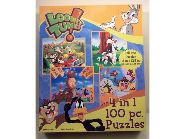 Looney Tunes 100 Piece 4 in 1 Puzzle Set