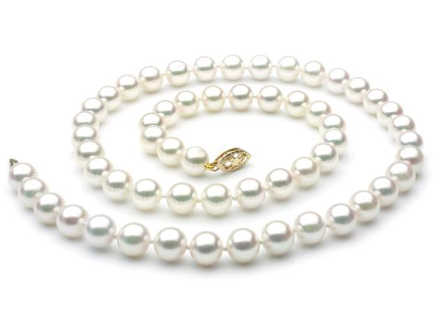 Japanese Akoya Saltwater Pearl Necklace 7.5mm AAA Quality 20 inch