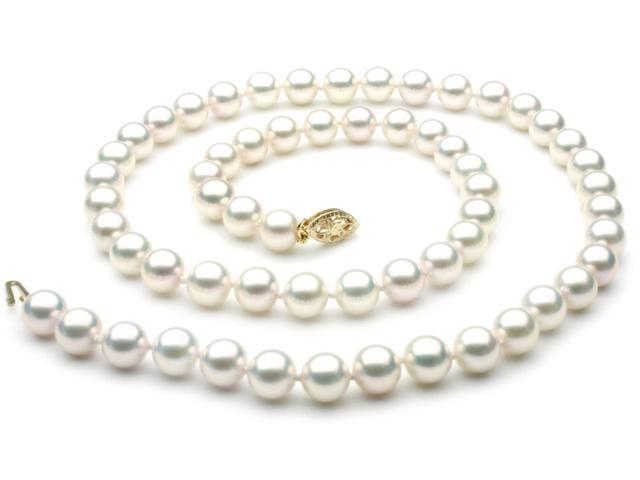 Japanese Akoya Saltwater Pearl Necklace 7mm AA+ Quality 22 inch