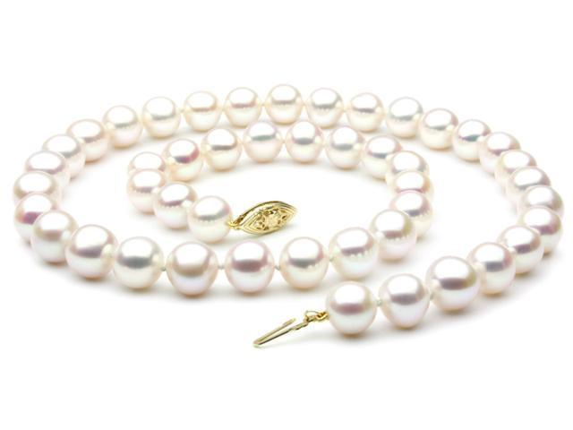 """Freshwater Pearl Necklace - 7-8mm AAA Quality 20"""" 14k Gold Clasp"""