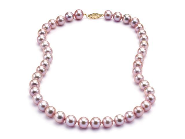 Freshwater Lavender Pearl Necklace - 8-9mm AA+ Quality 18