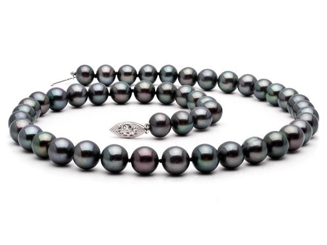 Freshwater Black Pearl Necklace - 7-8mm AAA Quality 16