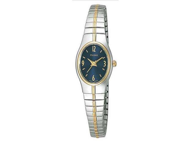 Pulsar PC3090 Women's Two Tone Blue Dial Quartz Watch