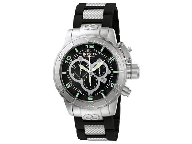 Invicta 6674 Men's Corduba Swiss Black Rubber Strap Watch