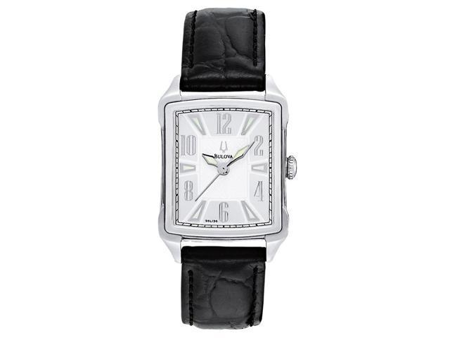 Bulova Strap Collection Silver-Tone Dial Women's Watch #96L136