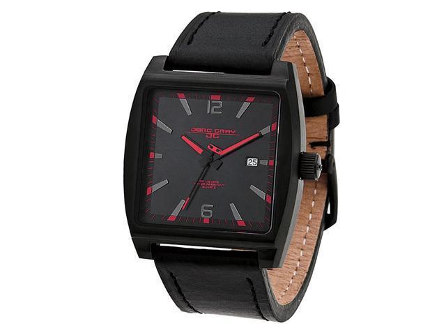 Jorg Gray Leather Black Dial Men's watch #JG5200-19