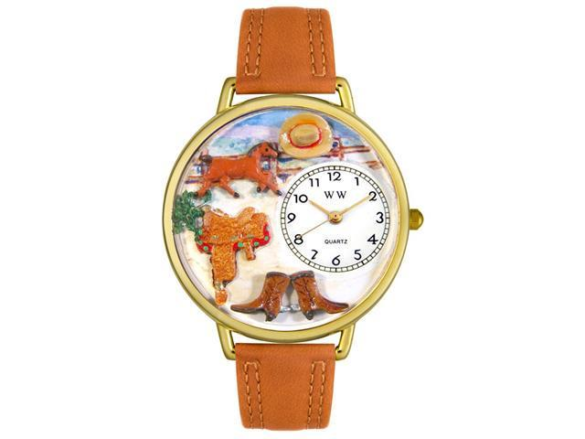 Ranch Tan Leather And Goldtone Watch #G0160001