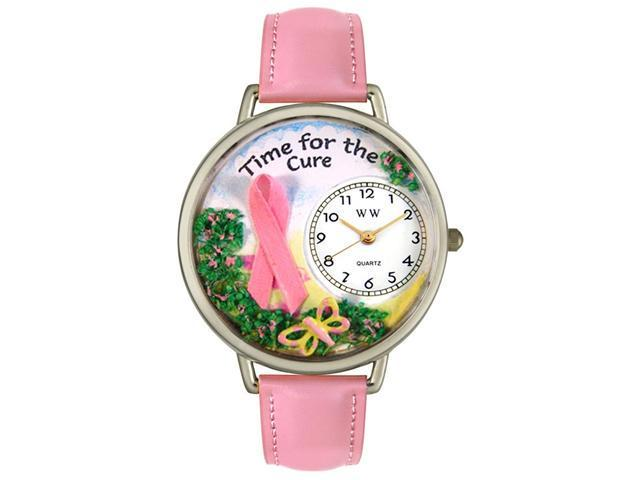 Time for the Cure Pink Leather And Silvertone Watch #U1110001