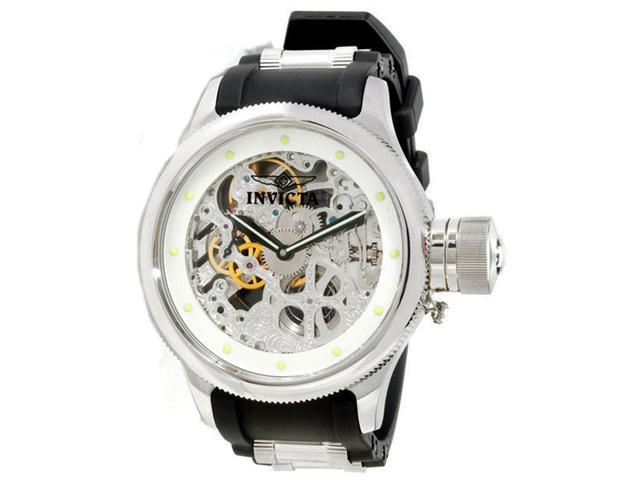 Invicta 1242 Men's Russian Diver Skeleton Dial Mechanical Watch