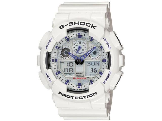 Casio GA100-7 Men's G-Shock Ana-Digi White Resin Alarm Dive Watch