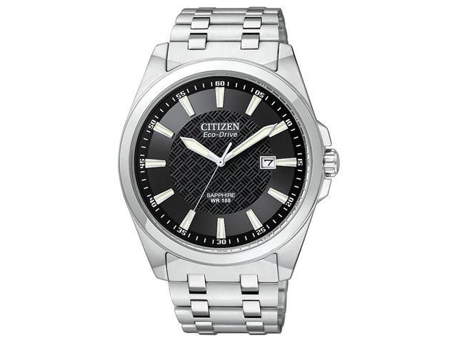 Citizen Eco-Drive WR100 Sapphire Glass Black Dial Men's watch #BM7100-59E