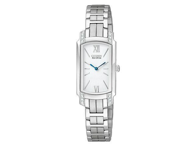 Citizen Eco-Drive Silhouette Crystal White Dial Women's watch #EG2720-51A