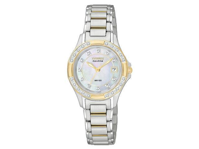 Citizen Silhouette Eco-Drive Mother-of-Pearl Dial Women's Watch #EW213450D