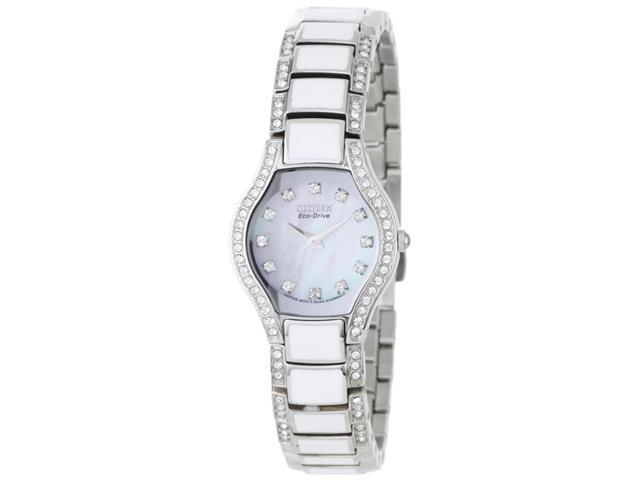 Citizen EW9870-81D Women's Eco-Drive MOP Dial Stainless Steel Watch